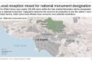 Graphic shows area in California's San Gabriel Mountains designated as a national monument; 3c x 3 inches; 146 mm x 76 mm;