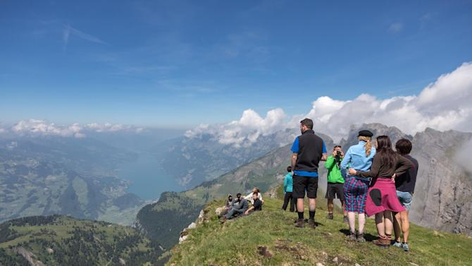 Alvier mountain in the Swiss Alps