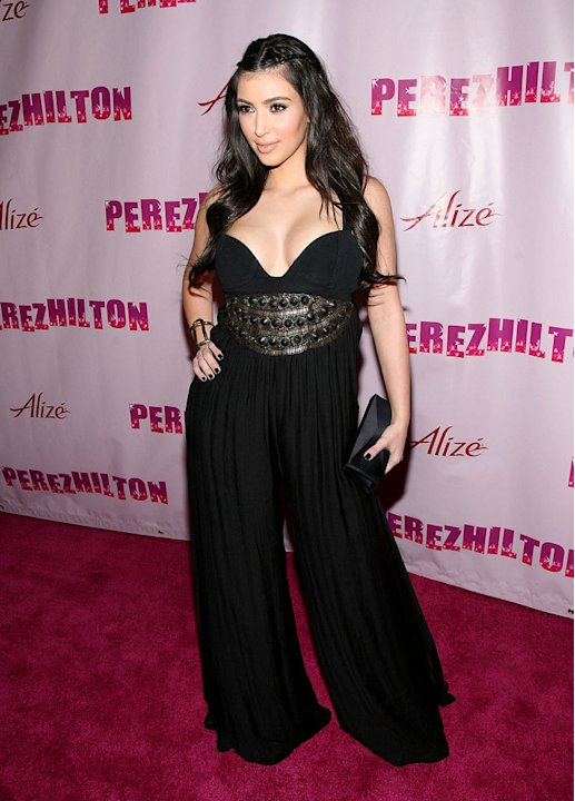 "Kim Kardashian arrives at Perez Hilton's ""OMFB"" 31st Birthday Party held at The Viper Room on March 28, 2009 in West Hollywood, California."