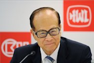 Hong Kong billionaire Li Ka-shing of Hutchison Whampoa attends the company's annual results announcement in Hong Kong on March 29, 2011. Li Ka-shing's conglomerate Hutchison Whampoa reported a half-year net profit increase of 23 percent, despite a lengthy strike in March at its Hong Kong port operation