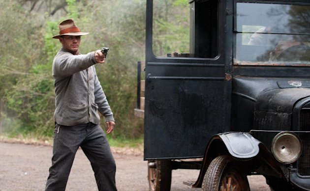 "This film image released by The Weinstein Company shows Tom Hardy in a scene from ""Lawless."" (AP Photo/The Weinstein Company, Richard Foreman, Jr.)"