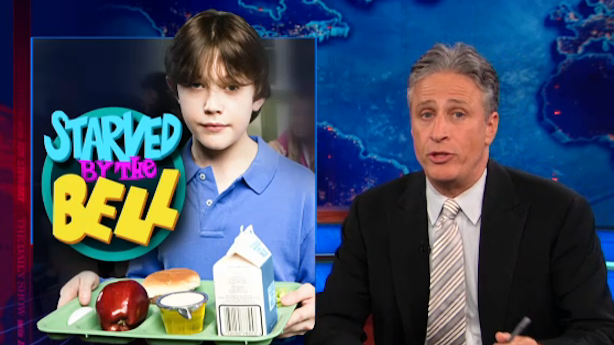 Jon Stewart Gets to the Bottom of What's Wrong with School Lunches
