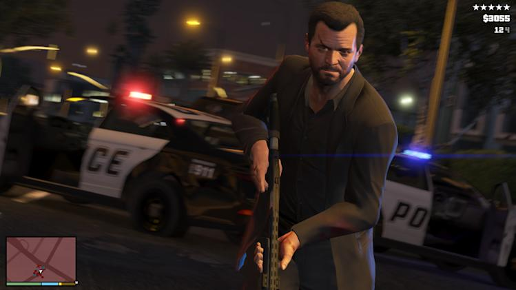 """This publicity photo released by Rockstar Games shows a screen shot from the video game, """"Grand Theft Auto V."""" (AP Photo/Rockstar Games)"""