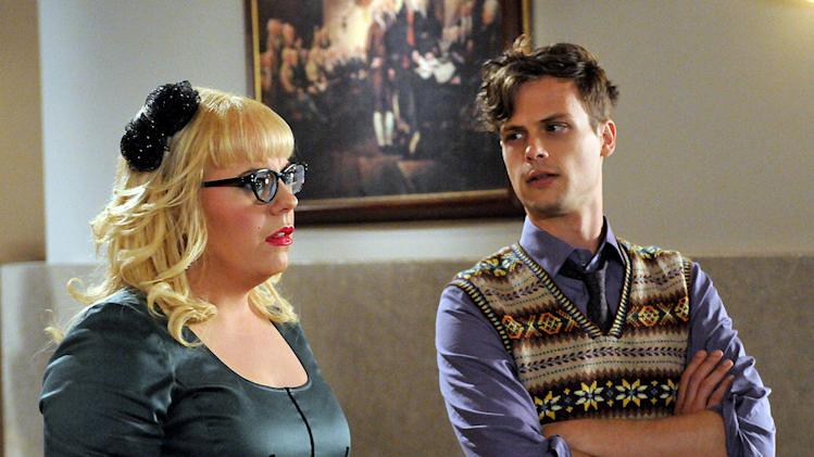 """It Takes A Village"" -- Garcia (Kirsten Vangsness) and Reid (Matthew Gray Gubler) talk as the BAU team is questioned by a Senate Committee for their retaliatory actions in the wake of Prentiss' loss, on the seventh season premiere of CRIMINAL MINDS, Wednesday, Sept. 21 (9:00-10:00 PM, ET/PT) on the CBS Television Network. Photo: Michael Yarish/CBS ©2011 CBS Broadcasting, Inc. All Rights Reserved. Criminal Minds"