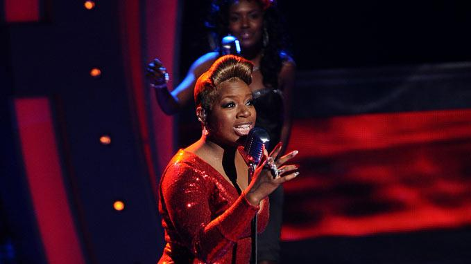 "Fantasia performs ""Collard Greens & Cornbread"" on ""American Idol."""