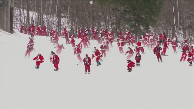 Santas hit the slopes