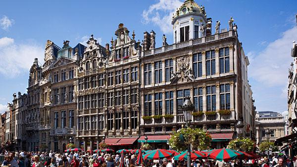 5. (Tied) Belgium Highest income tax rate: 50%  Average 2010 income: $52,700   Belgium's highest tax rate of 50 percent is 5 percentage points higher than the average for Western Europe, which has the highest personal tax rates of any region globally.   The highest marginal tax rate kicks in at $46,900 of income. The country's employee social security rate is 13 percent with employer contributions at 35 percent. Municipal taxes can be up to 11 percent of income, while nonresidents pay a fixed 7 percent rate. Capital gains tax is either 16.5 percent or 33 percent, though taxpayers can get some exemptions. For expatriates, if an executive travels 25 percent of their time on business, then the top marginal tax rate can be reduced to 40 percent of income.   Belgians have the highest tax and social security burden, according to a recent OECD study. In 2011, single taxpayers with an average income took home less than 45 percent of what they cost their employer. Taxpayers at higher earnings took home less than 40 percent. According to the study, the overall tax burden increased for all types of households in the country in 2011.   Pictured: Grote Markt in Brussels  Photo: Juergen Ritterbach   Getty Images