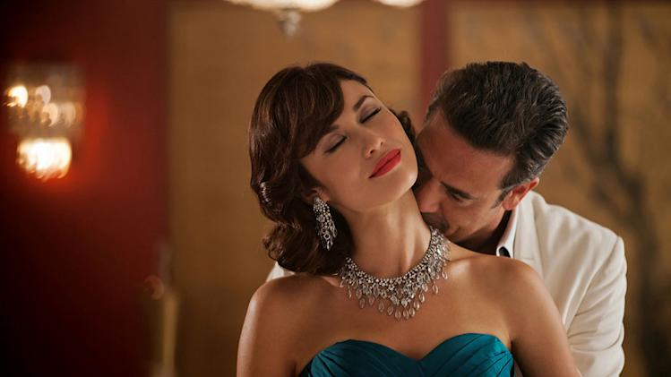 "Olga Kurylenko as Vera Evans and Jeffrey Dean Morgan as Ike Evans in ""Magic City."""