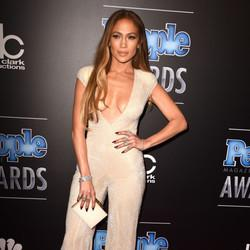 Jennifer Lopez Sparkles In A Plunging Jumpsuit At People Magazine Awards