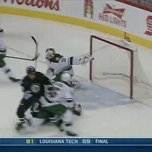 Niklas Backstrom's blocker denies Byfuglien