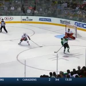 Jonas Hiller Save on Antoine Roussel (04:53/2nd)