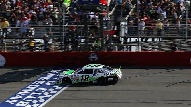 Kyle Busch drove toyota to first win at Auto Club