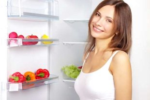 Keep healthy foods at the front of your fridge to maximise your chances of dieting success