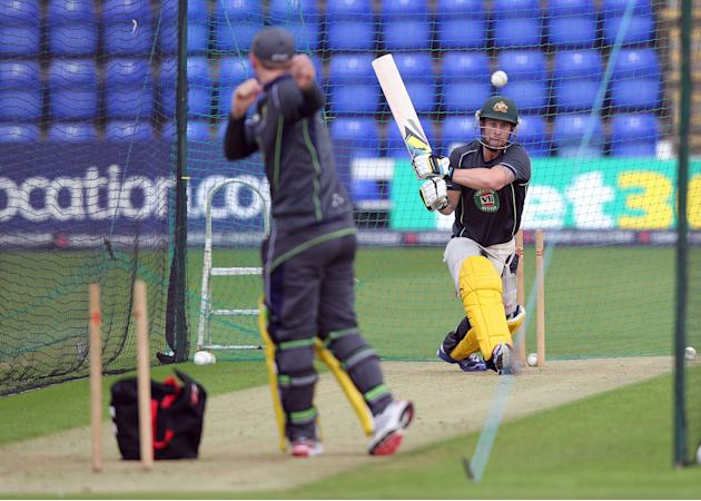 Cricket - Natwest One Day International Series - Fourth One Day International - England v Australia - Australia Nets Session - SWALEC Stadium