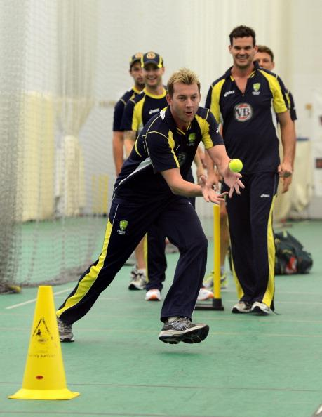 England And Australia Nets Session