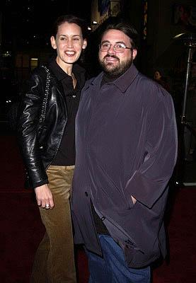 Jennifer Schwalbach and hubby Kevin Smith at the Hollywood premiere of Vanilla Sky