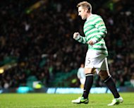 Kris Commons scored a hat-trick for Celtic