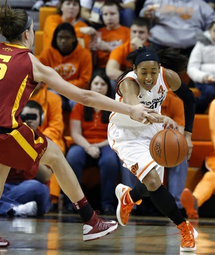 No. 17 Oklahoma St women rout No. 24 Iowa St 71-42