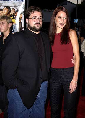 Premiere: Kevin Smith and wife Jennifer Schwalbach at the Westwood premiere of Dimension's Jay and Silent Bob Strike Back - 8/15/2001 