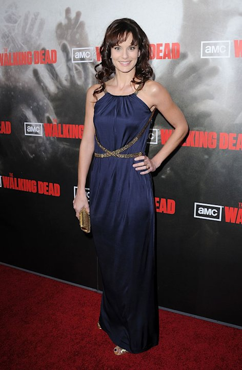 "Sarah Wayne Callies attends the Los Angeles premiere of ""The Walking Dead"" held at ArcLight Cinemas Cinerama Dome on October 26, 2010 in Hollywood, California."