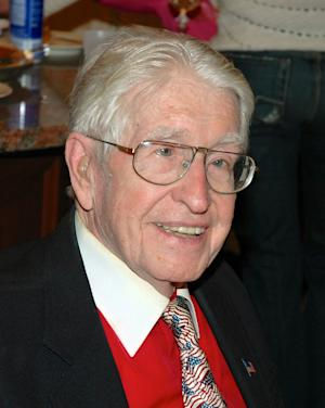 In this December 2005 family photo, mechanical engineer William Staub attends a family gathering. Staub, who is credited with bringing treadmills out of doctor's offices and into homes and gyms, died at his Clifton, N.J. home on Thursday, July 19, 2012, his son Gerald said. He was 96. (AP Photo/Staub Family Photo)