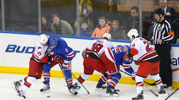NHL: Carolina Hurricanes at New York Rangers