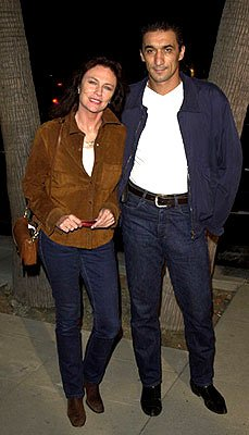 Jacqueline Bisset and Emin Boztepe at the Beverly Hills premiere of Miramax Zoe's Amelie