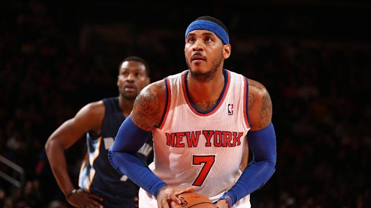 Knicks Carmelo Anthony to have ankle evaluated