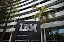 The IBM logo is seen outside the company's offices in Petah Tikva