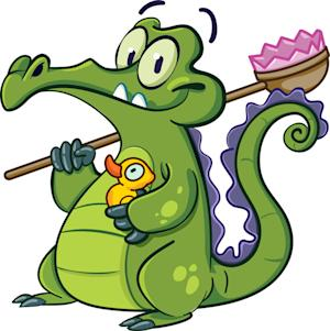 "This image provided by the Walt Disney Co. shows a new game character named, ""Swampy."" The Walt Disney Co. has used mobile games to promote its movies, but now it's trying something new: launching a  character in a game in the hope he makes it to the big screen someday. In a first effort at this new strategy, Disney is launching an animated alligator named ""Swampy"" whose bizarre quest in the 99-cent iPhone game ""Where's My Water?"" is to keep clean. (AP Photo/Walt Disney Co.)"