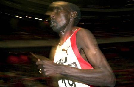 MOSES KIPTANUI IN 3000 M RACE IN STOCKHOLM.
