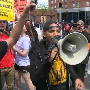 Peaceful protests in Baltimore
