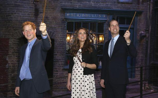 The Royals Admire Each Other's Big Wands