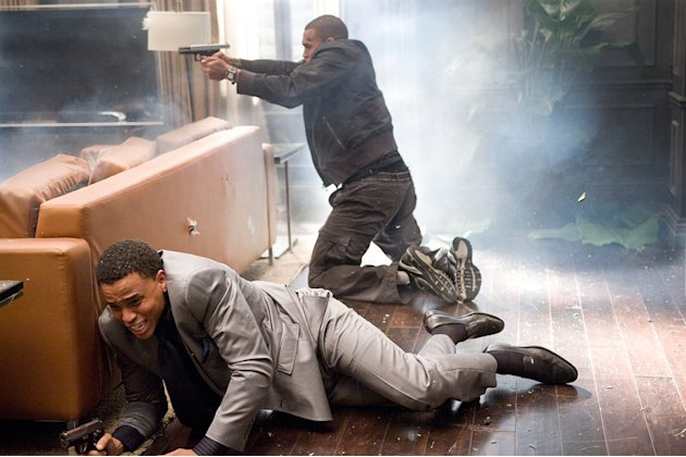 Takers Screen Gems 2010 Production Photos Michael Ealy Chris Brown