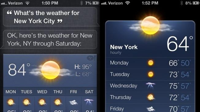 Siri is fouling up weather forecasts for major cities and suffering from intermittent outages