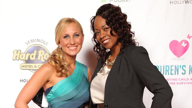 Lauren's Kids founder, Lauren Book and Wade's World Foundation Executive Director, Tragil Wade, attend the Seventh Annual Reid & Fiorentino Call of the Game Dinner Presented by Publix at the Seminole Hard Rock Hotel & Casino on Saturday, March 9th, 2013 in Hollywood, Fl. Lauren's Kids is a Florida-based organization aimed at preventing child sexual abuse and healing survivors through education and awareness. The organization, headquartered in Aventura, Florida, was started by Lauren Book, M.S. Ed., a survivor of childhood sexual abuse who endured abuse at the hands of her nanny for six years. (Photo by Omar Vega/Invision for Lauren's Kids/AP Images)