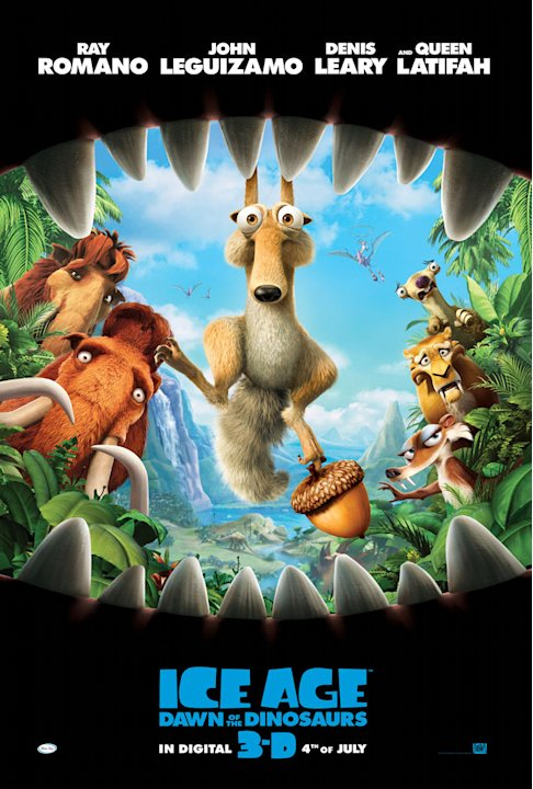 Ice Age: Dawn of the Dinosaurs Poster Production Stills 20th Century Fox 2009