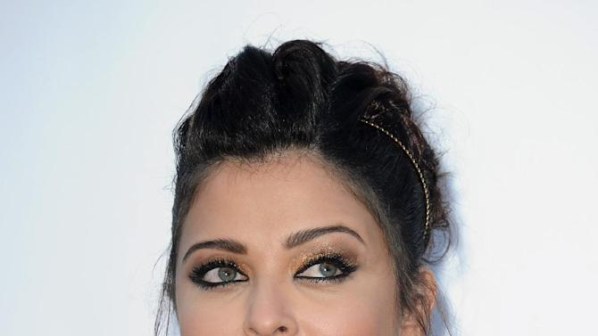 Aishwarya Rai arrives for the amfAR Cinema Against AIDS benefit at the Hotel du Cap-Eden-Roc, during the 65th Cannes film festival, in Cap d'Antibes, southern France, Thursday, May 24, 2012. (AP Photo/Jonathan Short)