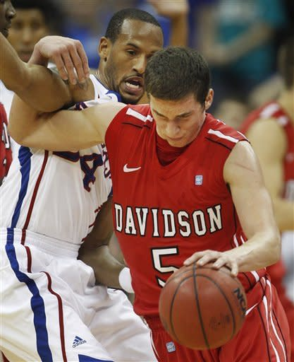 Davidson shocks No. 12 Kansas in 80-74 victory