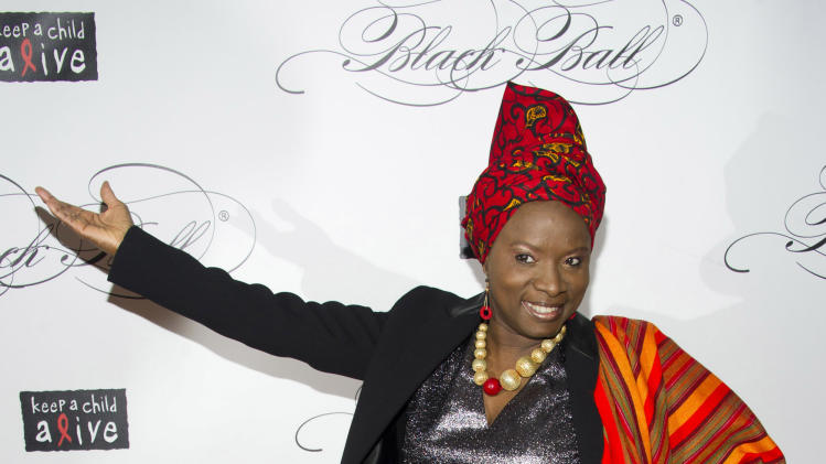 Angelique Kidjo attends Keep a Child Alive's ninth annual Black Ball on Thursday, Dec. 6, 2012 in New York. (Photo by Charles Sykes/Invision/AP)