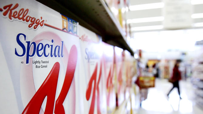FILE - This Jan. 31, 2006 file photo, boxes of Kellogg's Special K cereal are on display at a supermarket in an Omaha, Neb. The fixation on calorie counts that defined dieting for so long is giving way to other considerations, like the promise of more fiber or natural ingredients. The shift is chipping away at the popularity of products like Diet Coke, Lean Cuisine, Special K and Yoplait Light, which became dieting staples primarily by virtue of being calorie-stripped alternatives to people's favorite foods. (AP Photo/Nati Harnik, File)