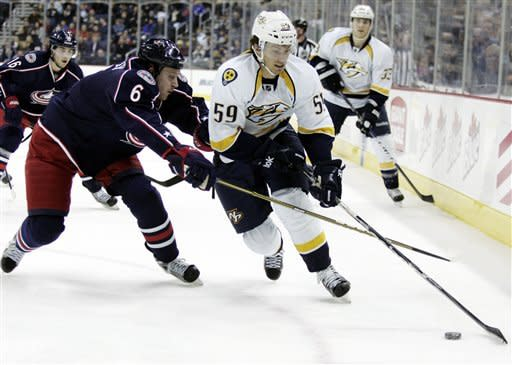 Rinne and Predators beat Blue Jackets 3-0