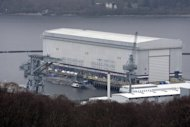 A trident submarine is shown at the Faslane naval base, Scotland, in 2007. The Scottish National Party has promised to get rid of all nuclear weapons if it secures a 'yes' vote in the independence referendum in September 2014. London is therefore considering designating as sovereign United Kingdom territory the Faslane base on Gare Loch in Argyll and Bute