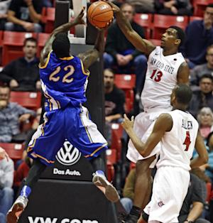 Shepard leads No. 24 Aztecs to 65-36 victory