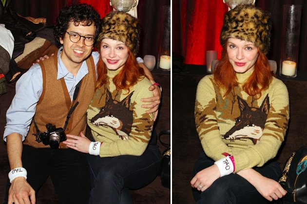 Fashion-Flop: Christina Hendricks mit Ehemann Geoffrey Arend (Bilder:Getty Images)