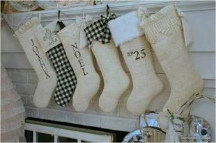 Cherished Vintage Stockings, $25