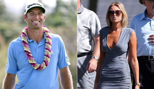 Dustin Johnson and Pauliine Gretzky