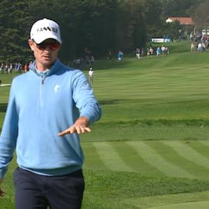 Justin Rose's delicate third shot yields birdie at AT&T Pebble Beach