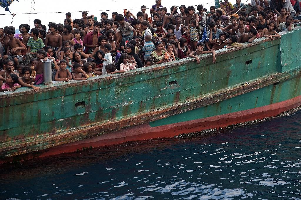 Thai PM deploys carrier to act as migrant processing centre
