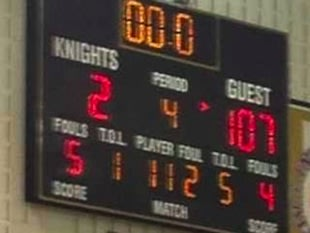 The scoreboard following Bloomington South's victory — Twitter